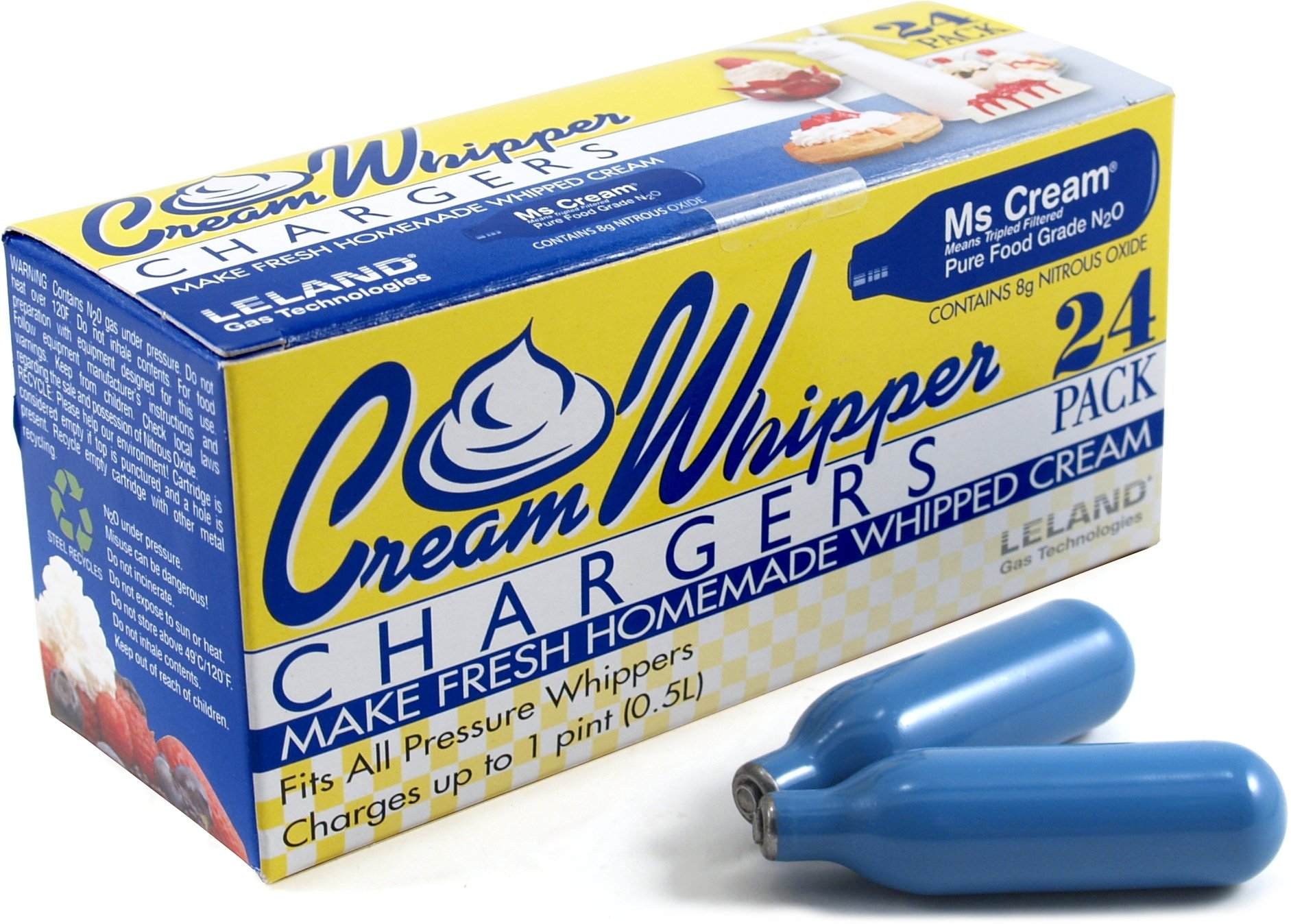 Leland N2O Whipped Cream Chargers, Pack of 600