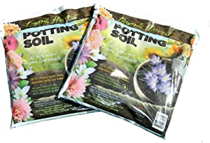 Organic Harvest Potting Mix Soil for Vegetables, Herbs and Flowers, (Pack of Two 4 Quart Bags)