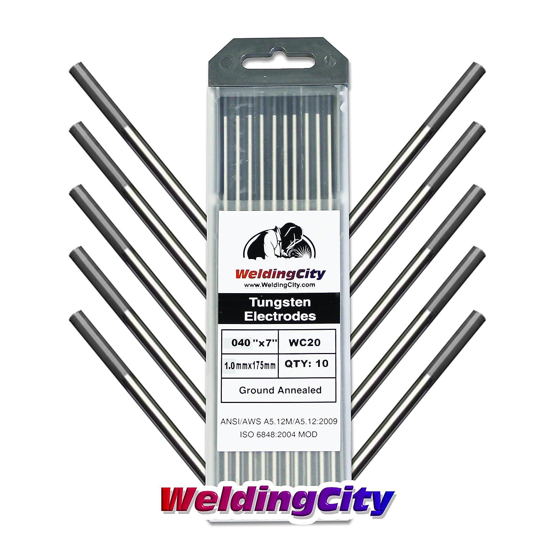 WeldingCity 10-pk TIG Welding Tungsten Electrode Rod Ceriated 2.0/% 10-pcs//box Gray 1//16 X 7 1//16 Diameter and 7 Length
