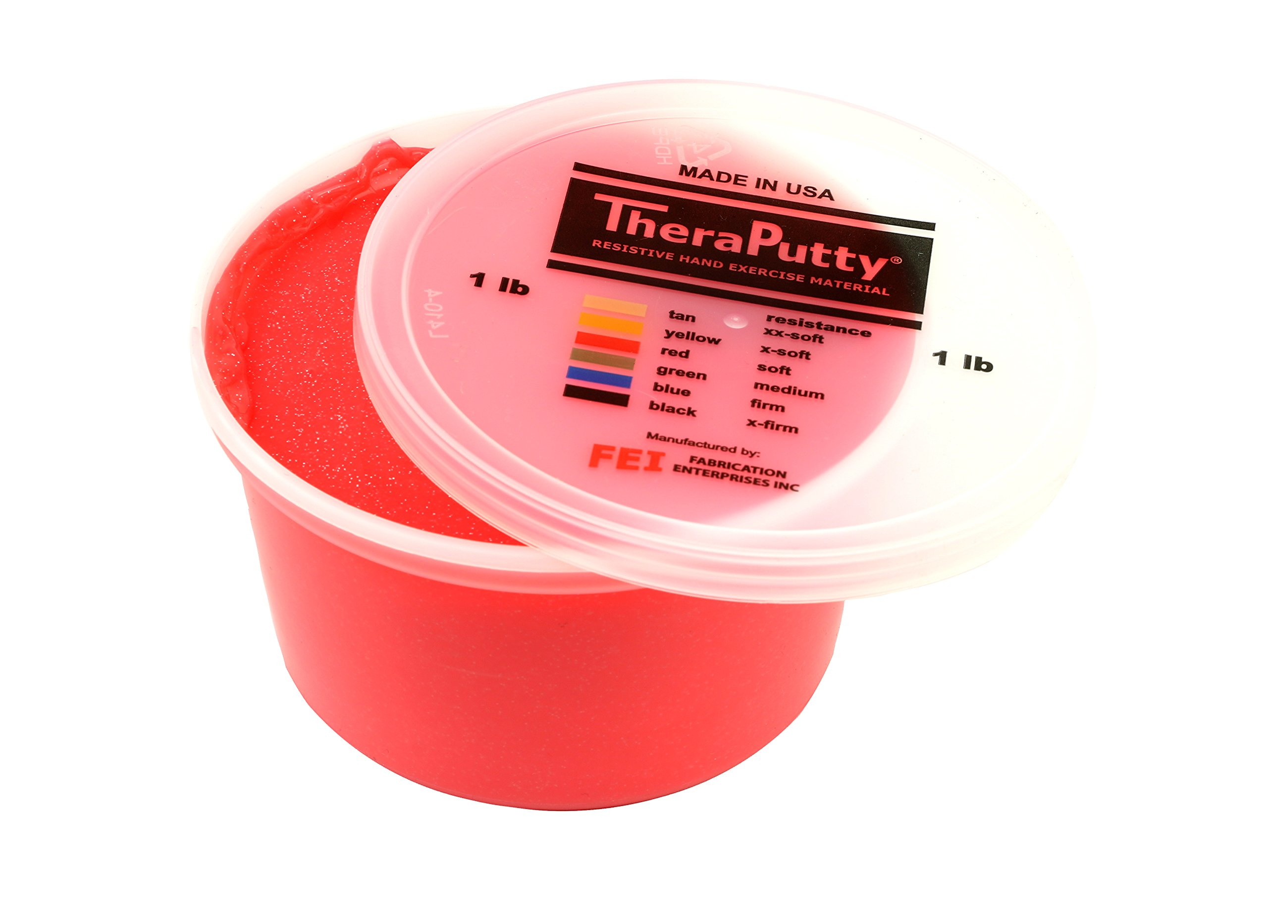 CanDo Sparkle Theraputty - 1 lb - Red - Soft by Cando