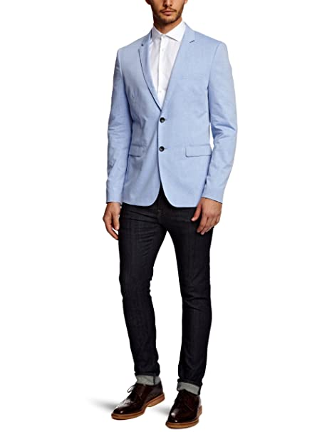SELECTED HOMME Hombre Business trajes Azul Claro S: Amazon ...