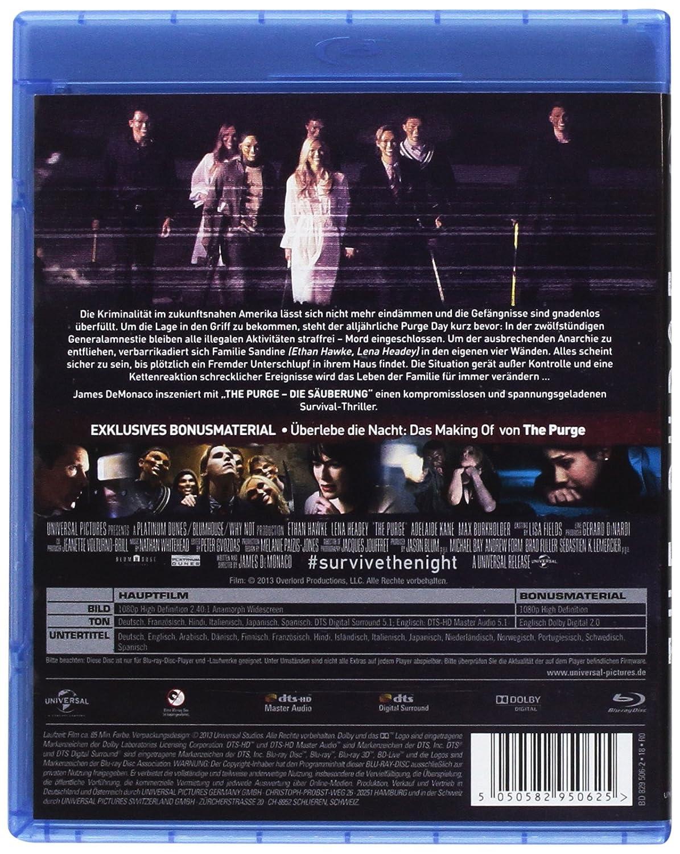 The Purge 1 - Die Säuberung [Alemania] [Blu-ray]: Amazon.es ...