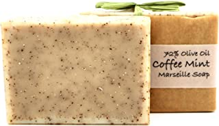 product image for Natural Handmade Soap - Coffee Mint Marseille Soap (72% Olive Oil), for light exfoliation