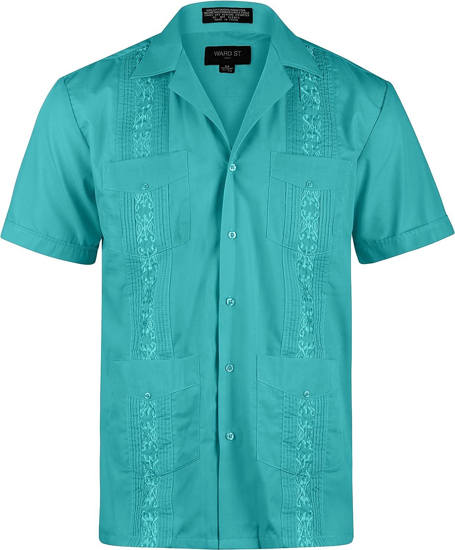 Ward St Men's Short Sleeve Cuban Guayabera