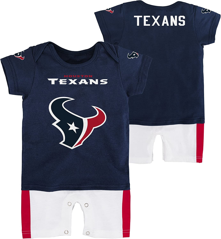 NFL Infant Houston Texans Boys Fan jersey Romper 12 Months Deep Obsidian