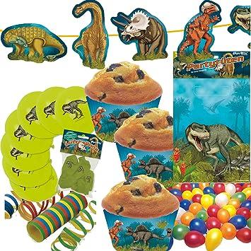 Carpeta/Mauder 100 Piezas. Set de decoración * Dinosaurios ...