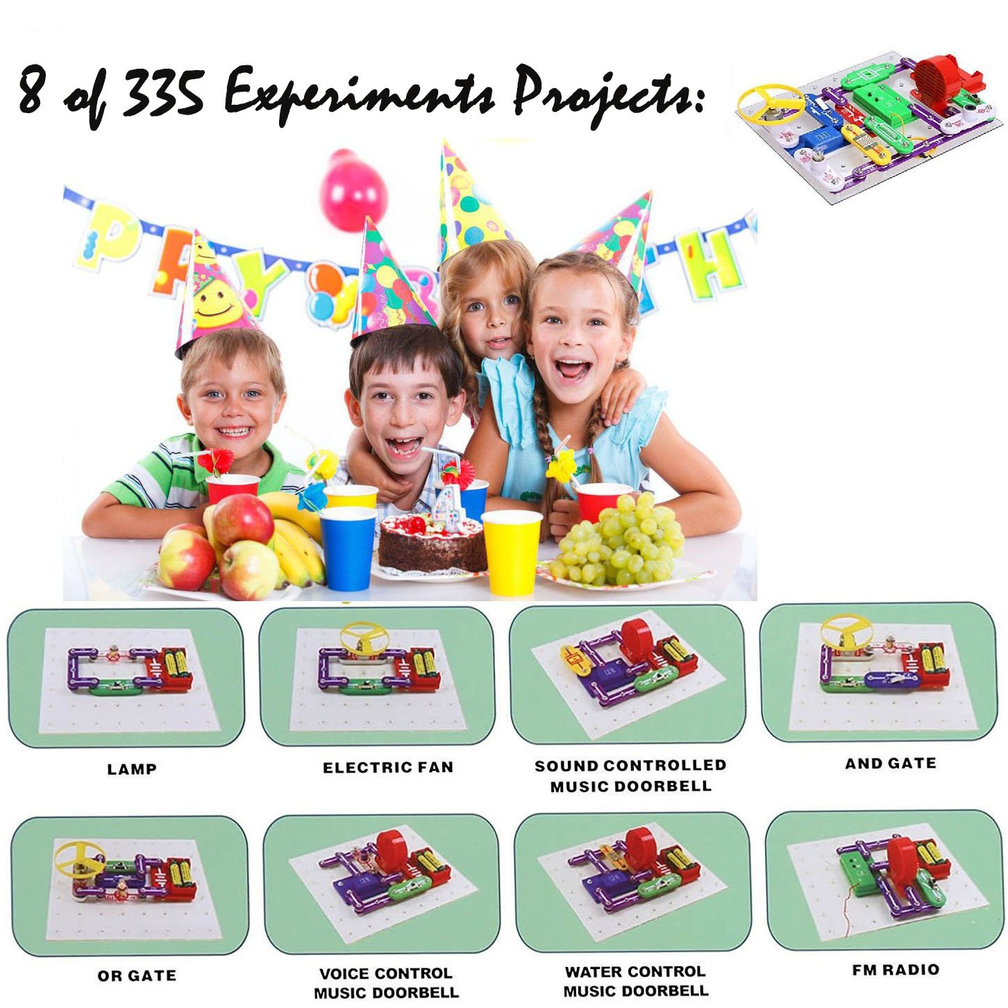 335 Diy Circuit Experimentsscience Kitselectronic Discovery Kit What Is An Electric For Kids Toy Kidskids Circuitskids