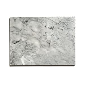 """Kota Japan Premium Non-Stick Natural Marble Pastry Board Slab 12"""" X 16"""" with No-Slip Rubber Feet for Stability and to Protect your Countertop 