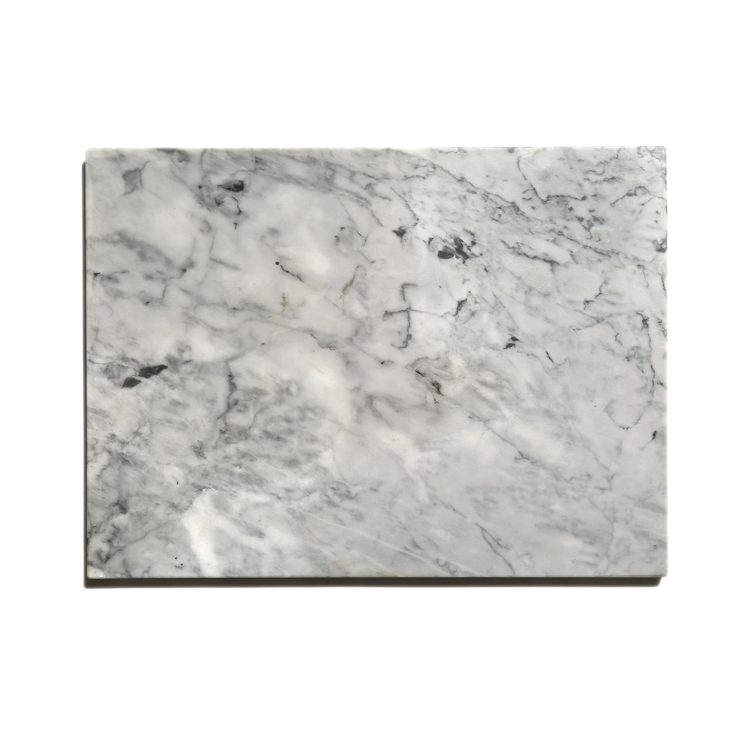 Kota Japan Premium Non-Stick Natural Marble Pastry Board Slab 12'' X 16'' with No-Slip Rubber Feet for Stability and to Protect your Countertop | Easy to Clean | Stays Cool