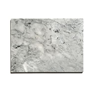 "Kota Japan Premium Non-Stick Natural Marble Pastry Board Slab 12  X 16"" with No-Slip Rubber Feet for Stability and to Protect your Countertop 