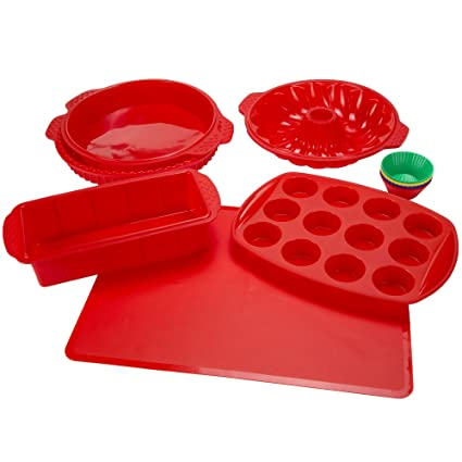 Review Silicone Bakeware Set, 18-Piece