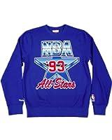 Mitchell & Ness 1993 Nba All Star Eastcoast Crewneck Sweatshirt Blue Size Small
