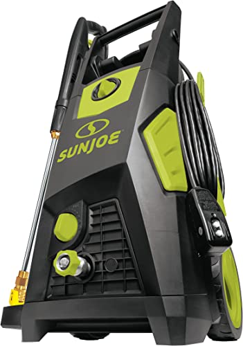Sun Joe SPX3500 2300 Max Psi 1.48 Gpm Brushless Induction Electric Pressure Washer, w Brass Hose Connector