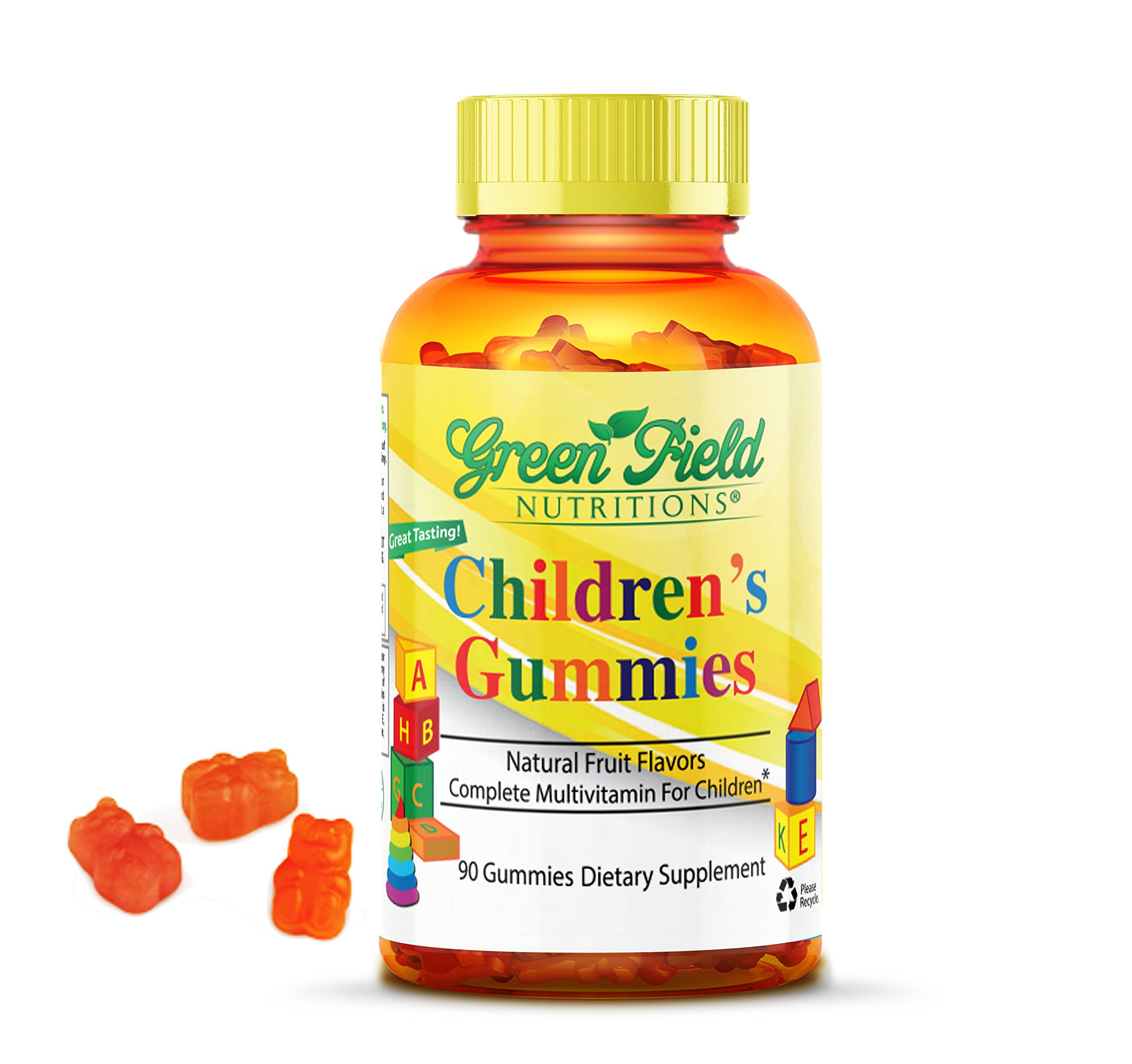 Greenfield Nutritions, Multivitamin Gummies for Children, 90 Gummies, Halal, Gelatin free, Veggie Vitamins
