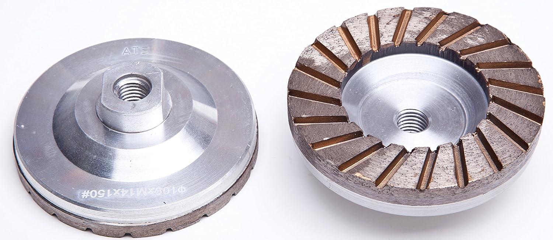 ATS 100mm Fine #150 grit Turbo Grinding Cup Wheel Aluminium Backed M14 Marble Granite Concrete Terrazzo