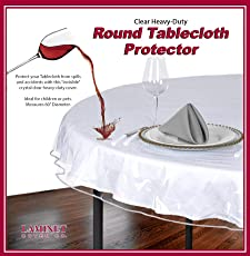 LAMINET Crystal Clear Drop Tablecloth Protector