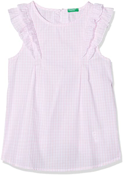 United Colors of Benetton Blouse, Blusa para Niñas, Rosa (Pink 985),
