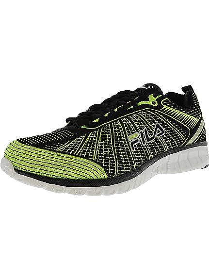 9b4bf1a40a08 Fila Men s Speedweave Run Ii Neon Green Black Ankle-High Running Shoe - 10M