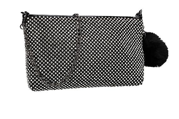 prix spécial pour couleurs et frappant faire les courses pour MICHELLE MOON Sac à main femme pochette noir cérémonie avec ...