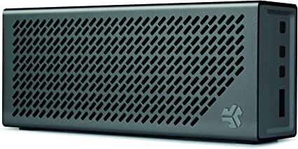The Crasher by JLab Loud Portable Bluetooth Stereo Speaker with 9 Hour  Battery -Midnight Black / Gunmetal
