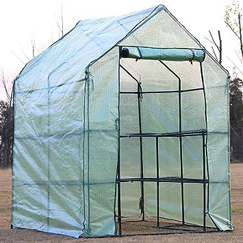 D4P Display4top Invernadero de jardín vivero casero Plantas Cultivos 143 x 143 x 195 cm: Amazon.es: Jardín