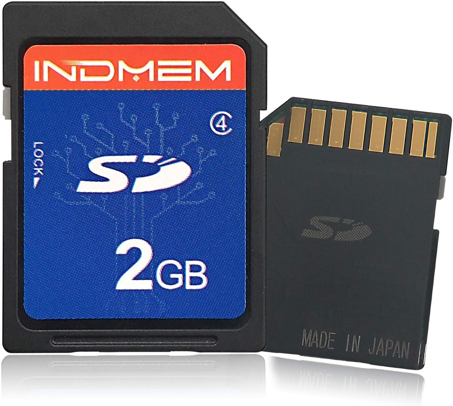 2 unidades INDMEM Tarjeta SD de 2 GB SLC Secure Digital Flash de Clase 4 para c/ámara de fotos