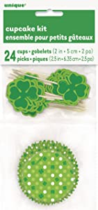 Shamrock Saint Patrick's Day Cupcake Kit for 24