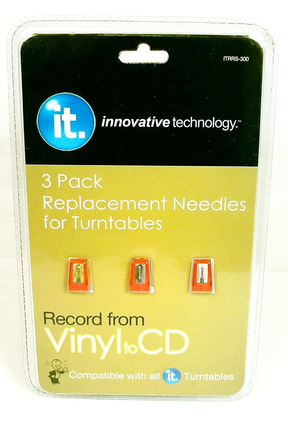 Innovative Technology 3 Pack Replacement Needles for Turntables ITRRS 300 1126-ITRRS-300