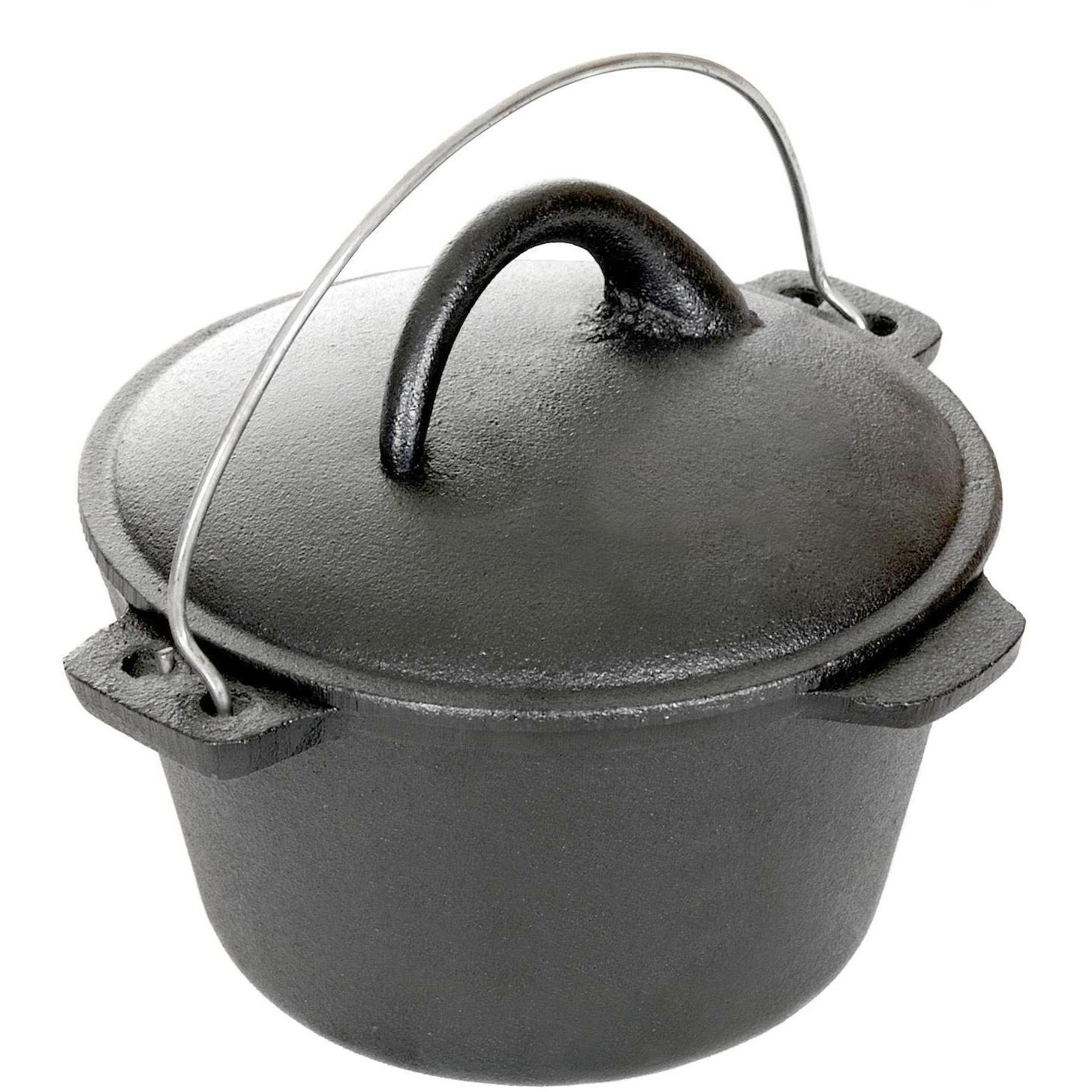 Cajun Cookware 1-quart Unseasoned Cast Iron Dutch Oven - Gl10485b