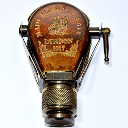 Antique~ 1917 Brass Traveling Telescope Binoculars Monocular Item Gift