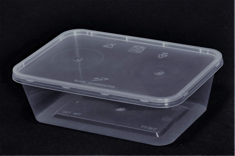 Smart Pack 25 tarros de plástico con Tapa, Rectangular, para ...