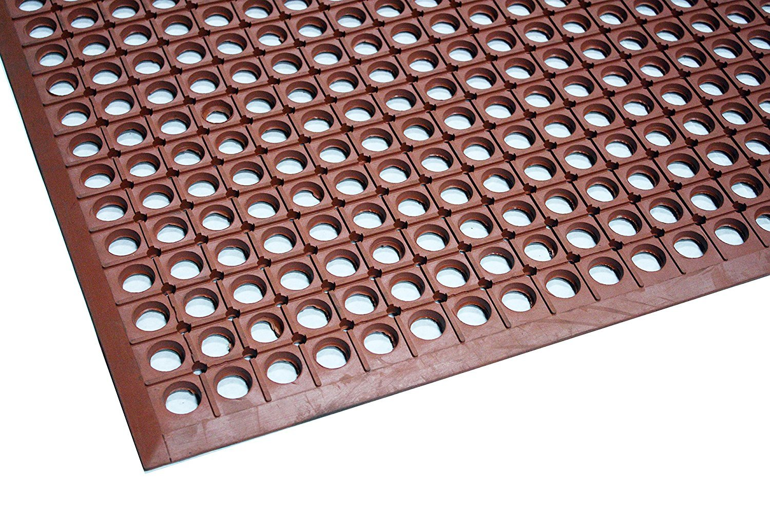 Durable Workstation Light Rubber Anti-Fatigue Drainage Mat for Wet Areas 3 x 5 Red
