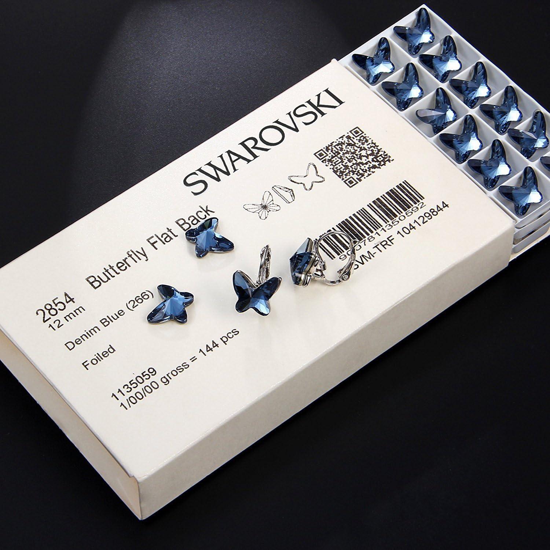 ELEGANCE PARISIENNE Boucles doreilles Butterfly Papillon Swarovski Elements Bleu Bijoux pour Femmes Enfants Filles