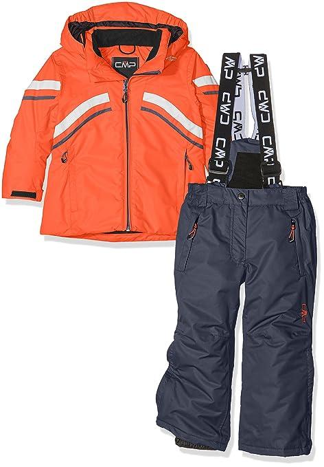 7aecb9fe177a CMP 3W05465, Giacca e Pantaloni da Sci Bambini, Multicolore (Bitter), 104