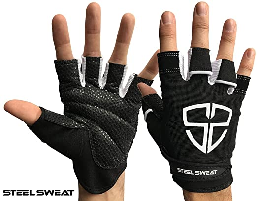 Amazon steel sweat workout gloves best for gym