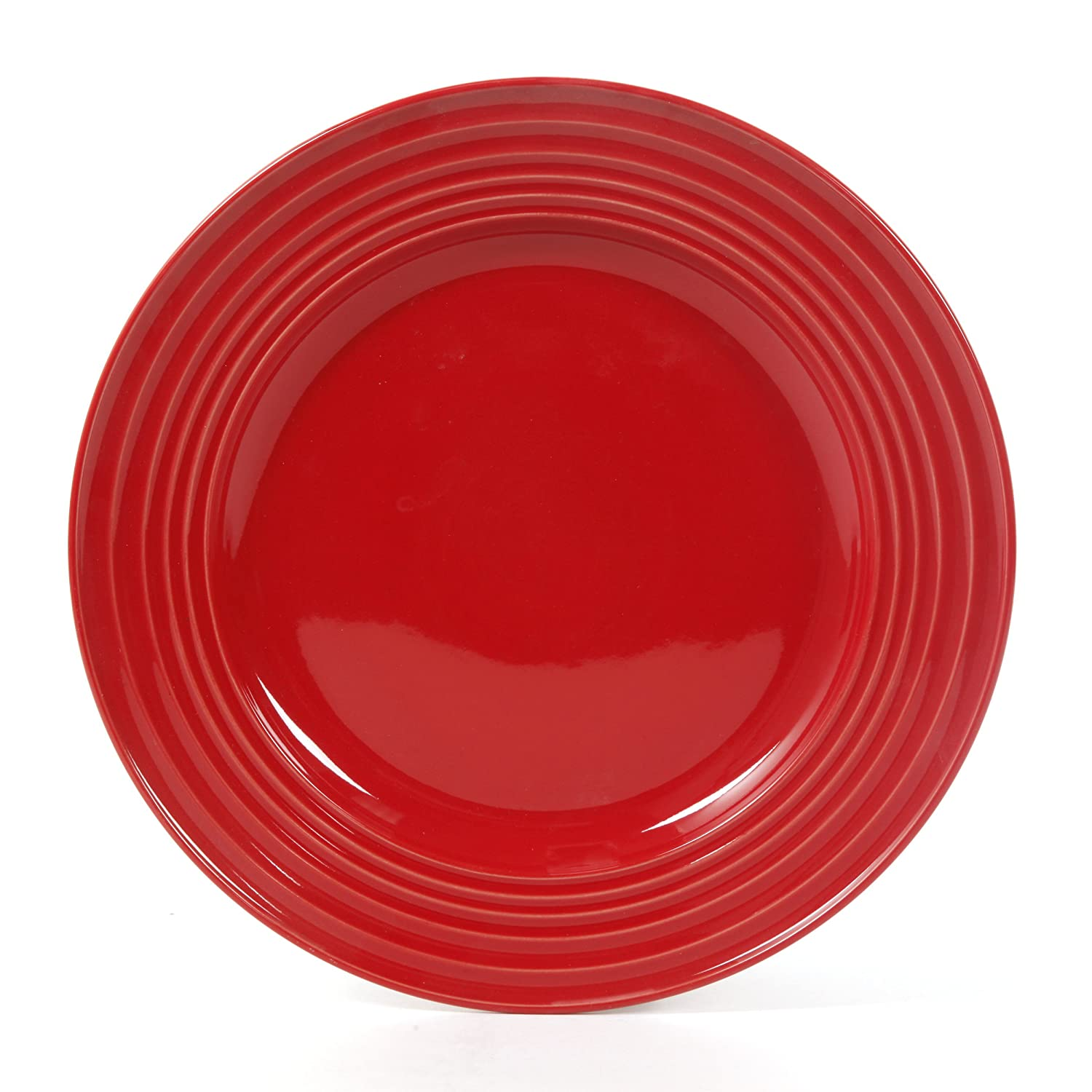 Amazon: Gibson Home 12 Piece Plaza Cafe Dinnerware Set, Red: Kitchen &  Dining