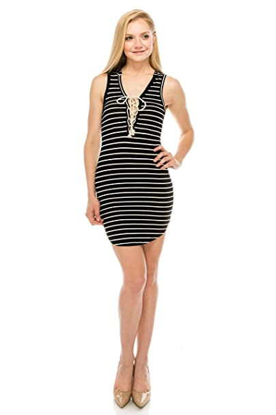 Onue Collection Hoodie Mini Dress With Lace Up Front At