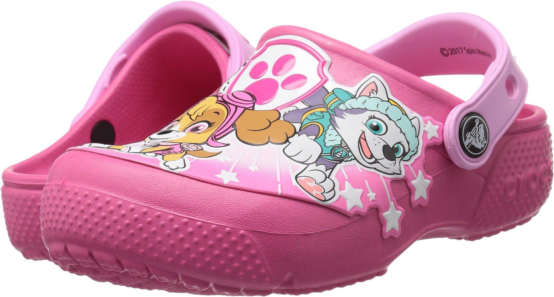 Crocs Girls' funlab Pawpatrol Clog, Vibrant Pink, 10 M US Toddler
