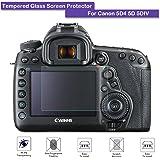 Fiimi vetro temperato Proteggi schermo LCD per Canon EOS 5div 5d mark IV, 9H Durezza, 0,3mm spessore, in vetro vero