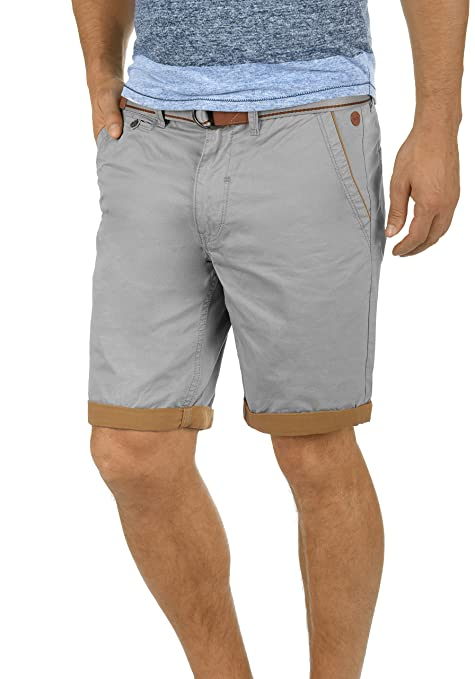 Blend Neji Herren Chino Shorts Bermuda Kurze Hose Mit Gürtel Aus 100% Baumwolle Regular Fit