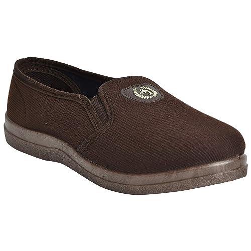 Brown Fabric \u0026 Lycra Casual Shoes