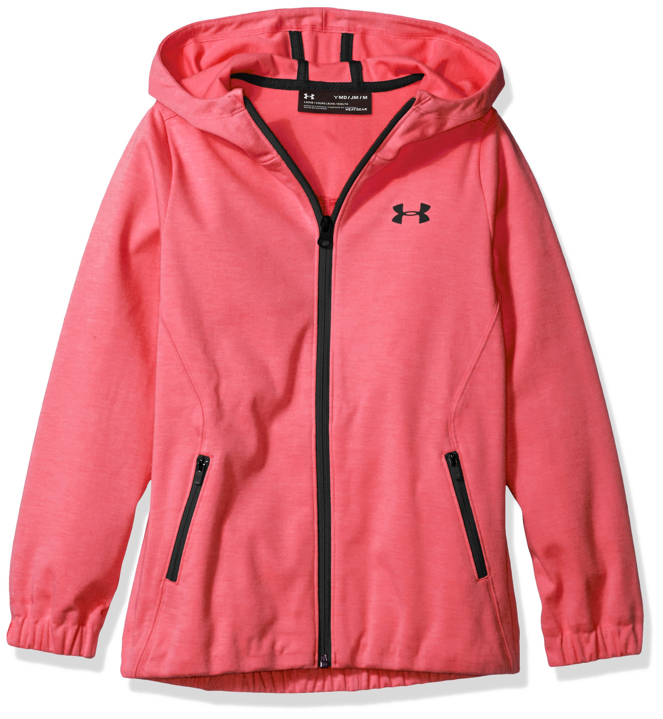 Under Armour Girls Spring Swacket, Penta Pink /Black, Youth Small by Under Armour