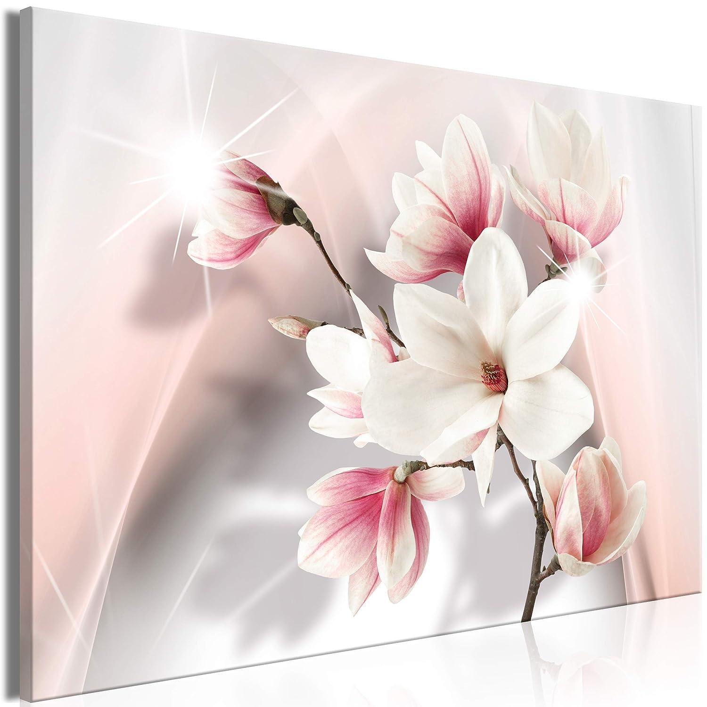 Decomonkey   Mega XXXL Bilder Blumen   Wandbild Leinwand 160x80 cm Einteiliger XXL Kunstdruck zum aufhängen   Magnolien Abstrakt