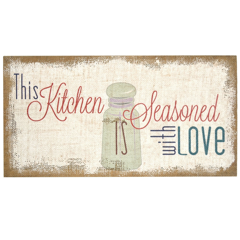 "Stratton Home Decor SPC 990"" Love Simply Typography Burlap Wall Art, 20.00 W X 1.50 D X 10.00 H, Multi"