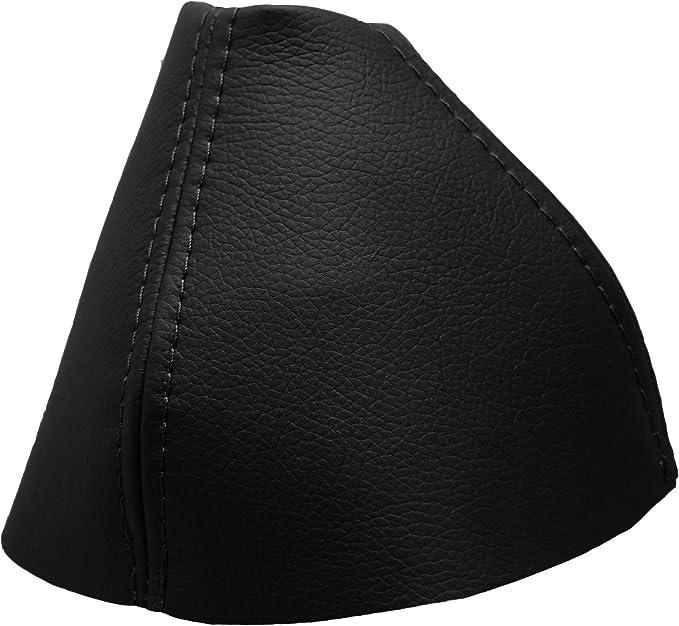 Para palanca de cambios negro bordado de piel color blanco 500