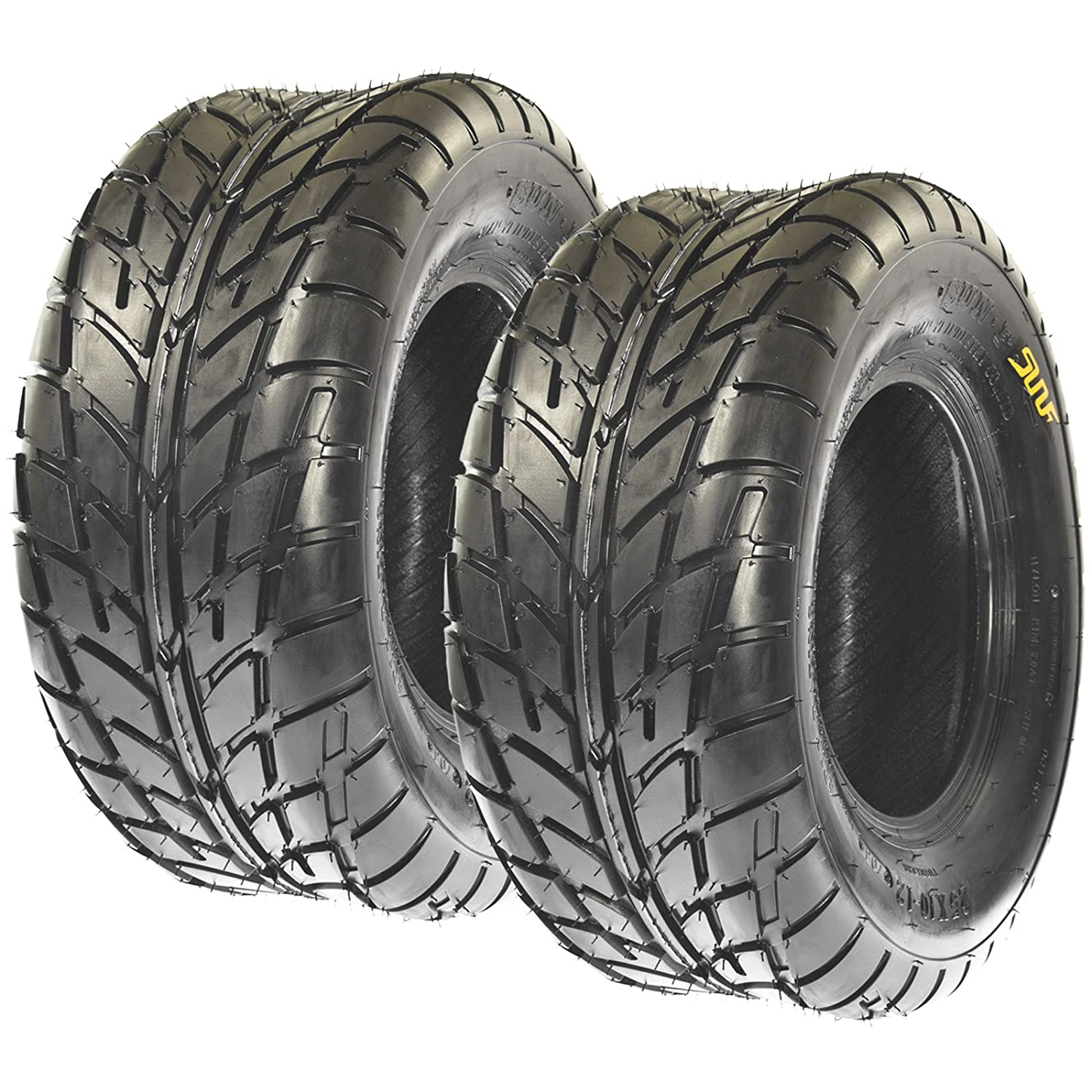 Pair of 2 SunF A021 TT Sport ATV UTV Dirt & Flat Track Tires 19x7-8, 6 PR, Tubeless