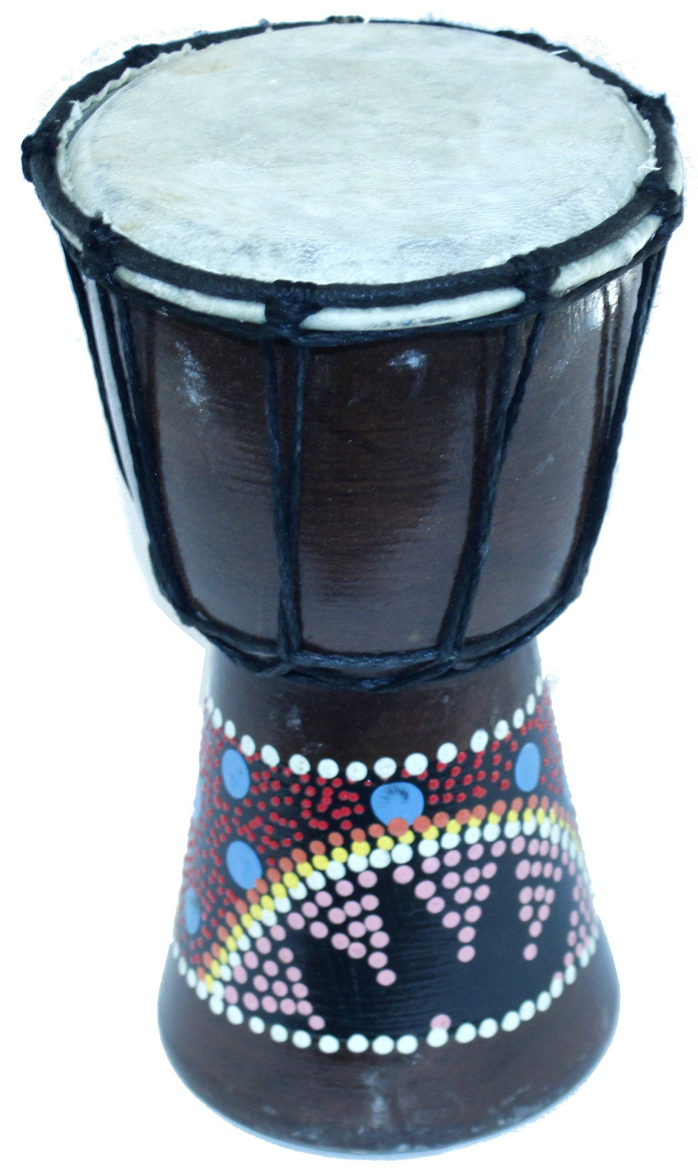 Djembe or Jembe Drum With colored dots from Jerusalem - Small (19cm or 7.5 Inches high) by Holy Land Market
