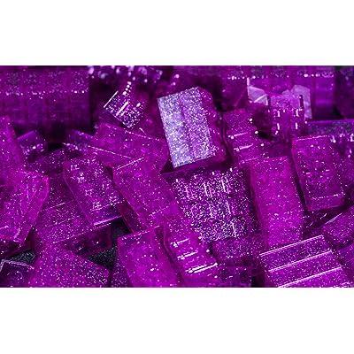 IMEX 2x4 Stud Translucent Glitter Purple Compatible Bricks, 100pc: Toys & Games