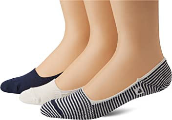 SPERRY Mens Skimmers Feed Stripe Liner Socks Three-Pack