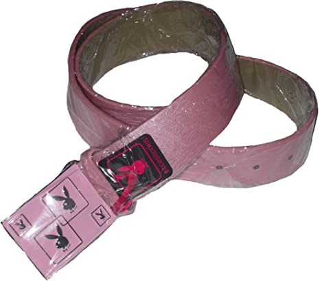LADIES WOMEN BELT OFFICIAL PLAYBOY PINK OR BLACK